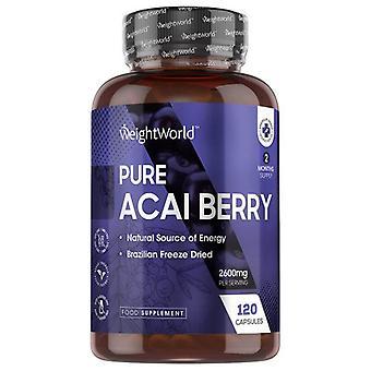 Pure Acai Capsules 1500mg - Pure Acai Berry Supplement, Rich In Antioxidants For Immunity & Vitality, Vegan & Keto Formula, Vitamin Rich - 60 Capsules