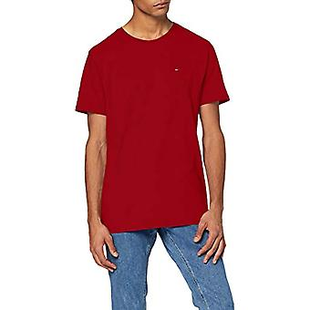 Tommy Jeans Tjm Essential Solid Tee T-shirt, Red (Wine Red), S Men's