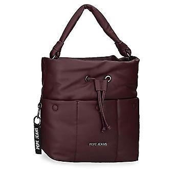 Pepe Jeans Bloat Crossbody Bag, 26x31x12 cms, Rojo