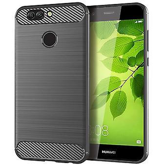 Tpu carbon fibre case for huawei p10 selfie grey mfkj-379