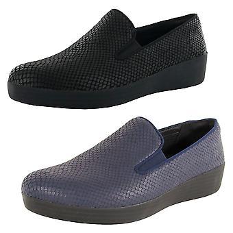 Scarpe loafer Fitflop Donna Superskate Snake Print