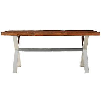 vidaXL eettafel massief hout met palissander afwerking 180 x 90 x 76 cm
