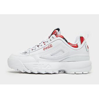 New Fila x Coca-Cola Disruptor II Women's from JD Outlet White