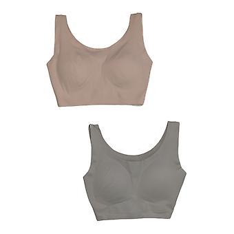 Rhonda Shear SzM One Size3-pack W/ Cuscinetti rimovibili Pink Bra Set 671539