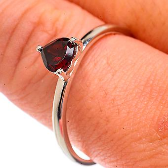Garnet Ring Size 11.25 (925 Sterling Silver)  - Handmade Boho Vintage Jewelry RING66228