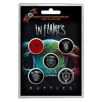 In Flames - Pack de badges de bouton de batailles