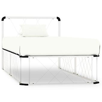 Bedframe Metal Blanco 100x200 cm