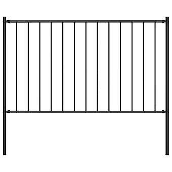 Pannello recinzione con pali 1.7X1.25 M acciaio verniciato a polvere nero