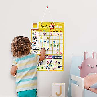 Learning Responsibility Star Chart Magnetic Chore Board Reward