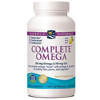 Nordic Naturals Complete Omega, 1000 mg, Lemon 120 softgels