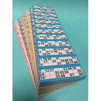 8 Pads of 12 To View Bingo Single Flyers (12000 tickets) - Blue