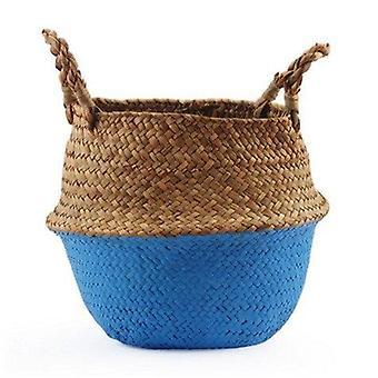 Handmade Bamboo Laundry Straw Patchwork Storage Baskets
