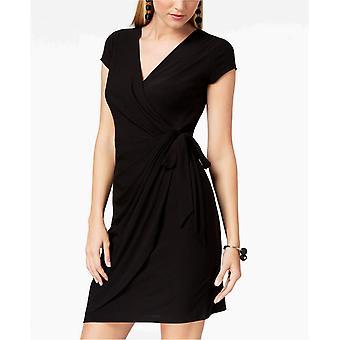 INC International Concepts Womens INC Cap-Sleeve Faux-Wrap Dress
