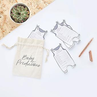 Baby Shower Prediction Cards and Canvas Bag x 20