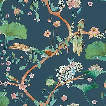 Rasch Studio Onszelf Amazing japansk naturblå tapet 539462