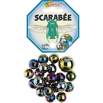 Kimplay 20 + 1 Marbles Scarabee