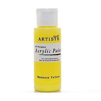 Banana Yellow docrafts Artiste All Purpose Acrylic Craft Paint - 59ml