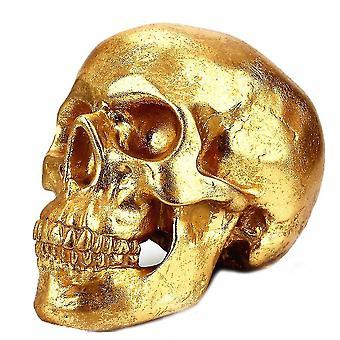 Gold Skull Piggy Bank Local Tyrant Money Box Ouro Resina Ornamentos de Resina