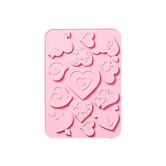 2Pcs Different Sizes Heart Series Silicone Cake Baking Mold Chocolate Sugarcraft Candy Pudding
