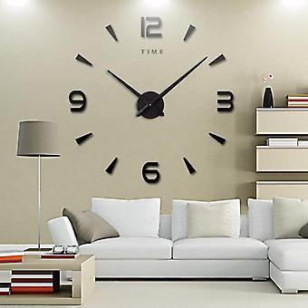 Wall clock  decorative kitchen clocks acrylic mirror stickers   home letter home decor