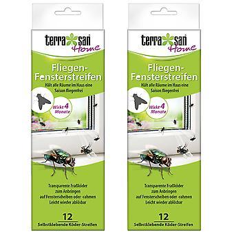 Sparset: 2 x TERRASAN HOME fly window strips, 2 x 6 pieces