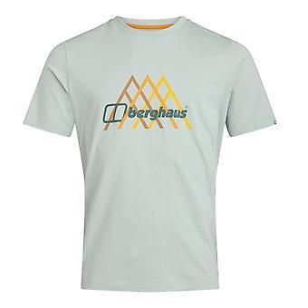 Berghaus Peak Fusion Grid Mens Short Sleeve Utomhus T-Shirt Tee Grå