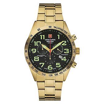 Reloj militar suizo Alpine para hombre Cronógrafo Cuarzo analógico 7047.9114SAM Acero inoxidable
