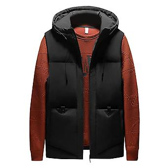 Mile Mens Hooded Gilet Lightweight Quilted Body Warmer Outdoor Sleeveless Padded Gilets Coat