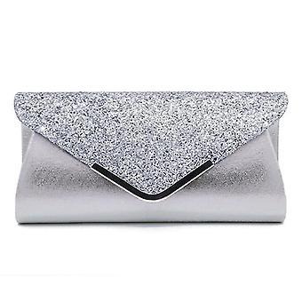 Womenins Glitter Shimmer Envelope Sequins Party Prom Smart Jane Clutch Bag