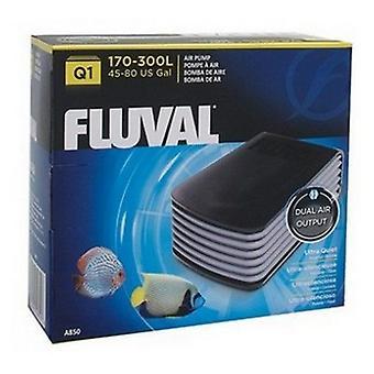 Fluval Ultra Quiet Air Pump - Pompe à air Q1 - 2 sorties d'air (45-80 gallons à 2,7 PSI x 2)