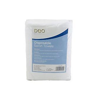 DEO Professionella Engångssalong Handdukar - Vit - 100% Viskos - Pack av 50