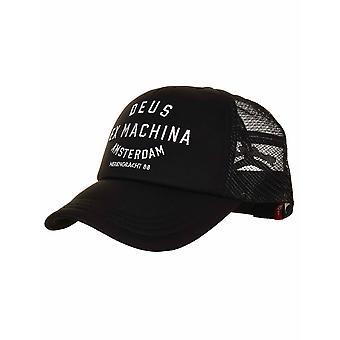 Deus Ex Machina Amsterdam Address Trucker Hat - Black