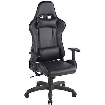 Toimistotuoli - Työpöytätuoli - Kotitoimisto - Moderni - Musta - Muovi - 65 cm x 50 cm x 128 cm