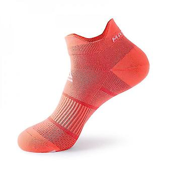 Orange 5 pack men's cushioned low-cut anti blister running and cycling socks mz907