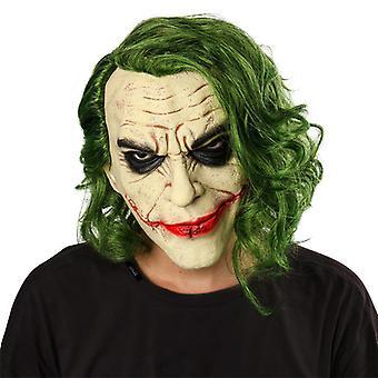 Der dunkle Ritter Batman Joker Halloween Latex Maske Kopfbedeckung
