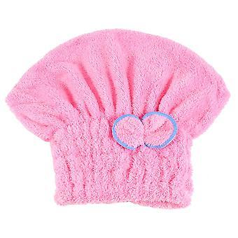Mikrokuituiset hiustenkuivauspyyhkeet, hiustenkuivaus korkki Mikrokuitu Ultra Pinkki