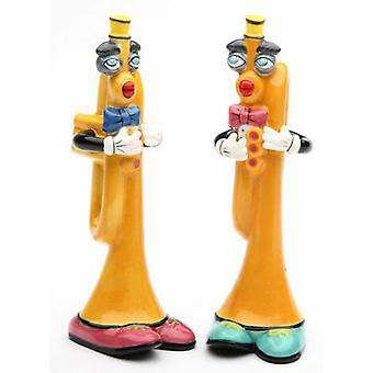 Musical Muse Trumpet Instrument Salt and Pepper Shakers