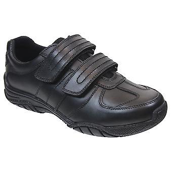 Term Boys Chivers School Shoes Black
