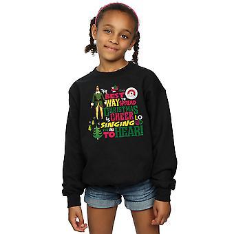 Elf Girls Christmas Cheer Sweatshirt
