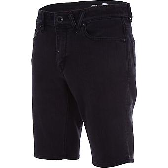 Volcom Vorta denim shorts in inkt zwart
