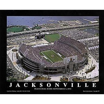 Jacksonville Florida - Jaguars 1St spelet affisch Skriv av Scott Schwartz (28 x 22)