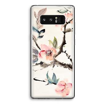 Samsung Galaxy Note 8 Transparant sag (Soft) - Japenese blomster