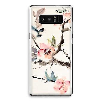 Samsung Galaxy Note 8 gjennomsiktig Case (myk) - Japenese blomster