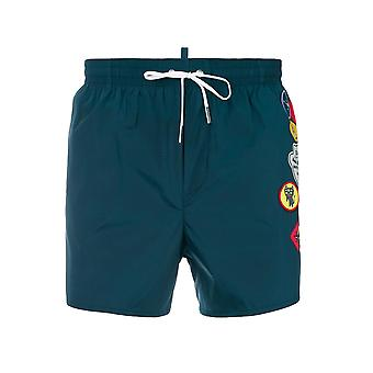 Dsquared2 Teal Boy Scout Swim Short