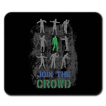 Crowd Apocalypse  Non-Slip Mouse Mat Pad 24cm x 20cm | Wellcoda