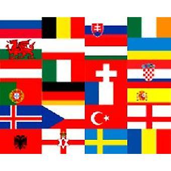 Euro 2016 drapeau Pack 5 pi x 3 pi avec 2 Bunting gratuit