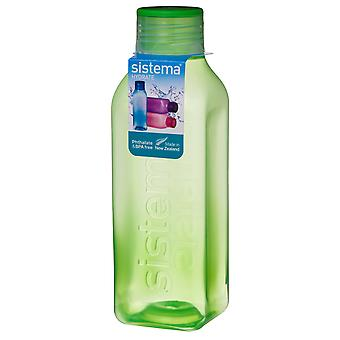Sistema Hydrate 725ml Square Drink Bottle, Verde Lime