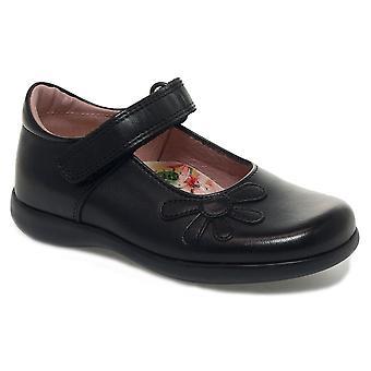 Petasil Girls Bonnie 4975 School Shoes Black