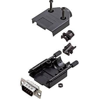 encitech DTPK-P-09-DMP-K 6355-0033-01 D-SUB pin strip set 180 ° Number of pins: 9 Solder bucket 1 Set
