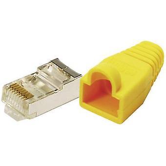 LogiLink MP0015 Plug CAT 5E beschermen gele 8P8C RJ45 stekker, rechte geel